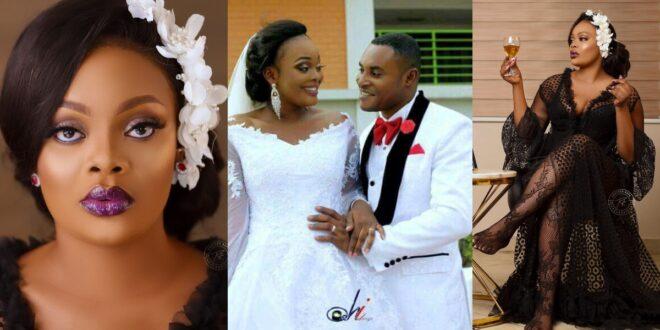 Kumawood Actress Bernice Asare's wedding pictures causes stir online (photos) 1
