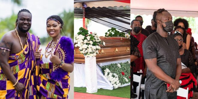 After the funeral of his wife, Eddie Nartey makes a bold statement and releases emotional images. 1