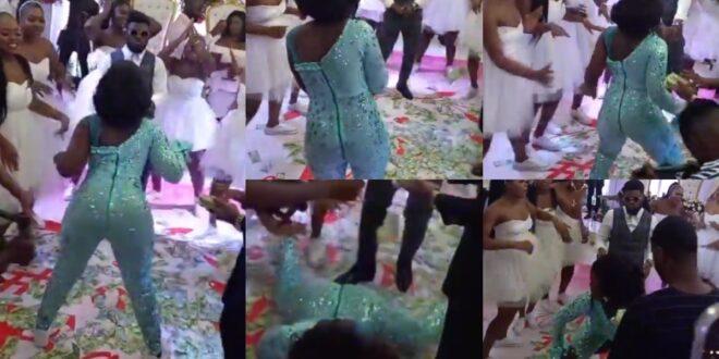 Bride goes viral after she showed crazy dance moves tw3rking at her wedding (video) 1