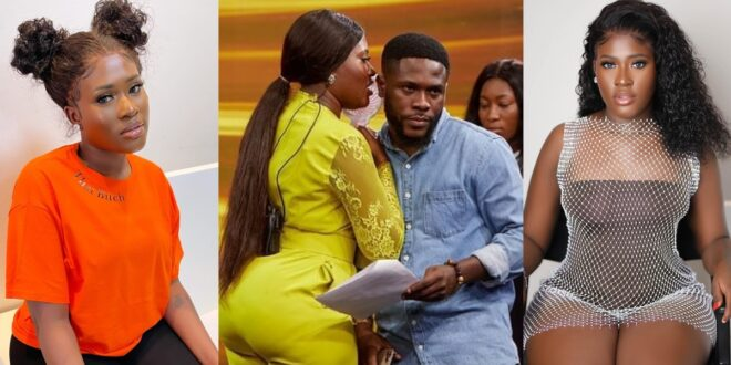 Fella Makafui accused of cheating on Medikal with her manager. 1