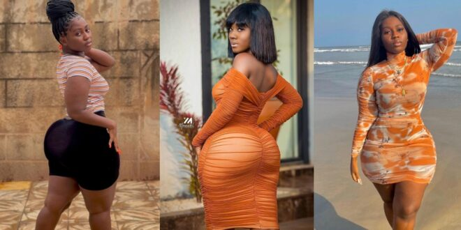 Finally, Hajia Bintu meets her meter in Cindy Fafa, an Ewe Lady causing confusion with her Backside (photos) 1