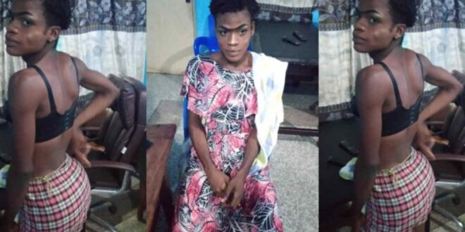 G@y man arrested at Madina after he was spotted disguised like a woman going to her 'Trumu-trumu' partner 1