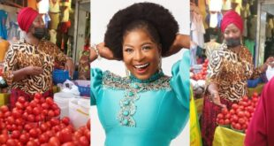 Gloria Sarfo spotted selling tomatoes at the market (video) 44