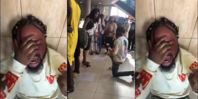 'I exchange my manhood for money to make her happy' - Young man cries after lady turned down his proposal (video) 1
