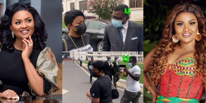 """""""I have nothing to say""""- Nana Ama Mcbrown walks out on reporter after court appearance (video) 1"""
