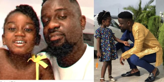 """""""I love you Titi""""- Sarkodie showers love on his daughter as she celebrates her birthday (video) 1"""