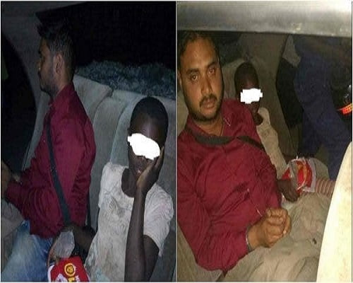 Indian man caught sleeping with a street girl in his car. 2