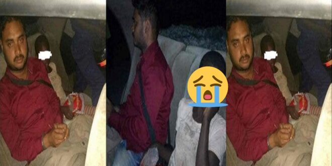 Indian man caught sleeping with a street girl in his car. 1