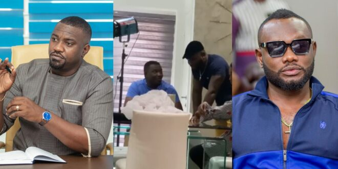 John Dumelo and Prince David Osei Clash for the first time after the Elections (video) 1