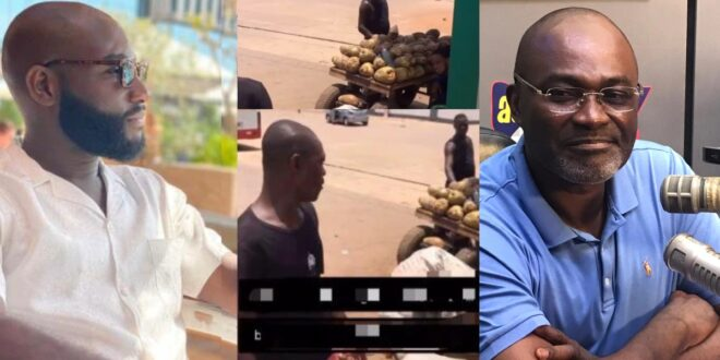 Kennedy Agyapong's son buys all coconut from a poor seller, asked him to go home and rest (video) 1