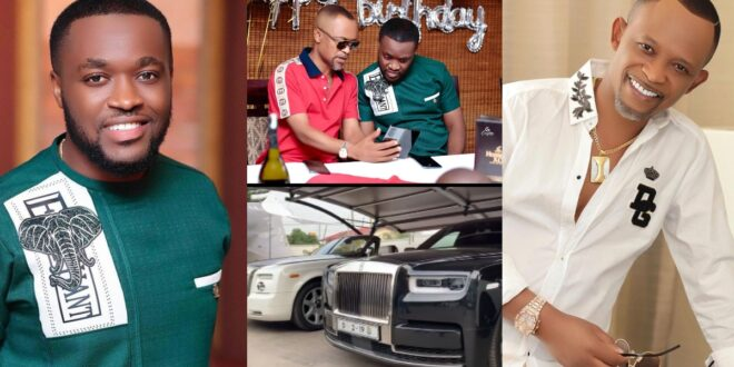 Kennedy Osei and Fadda Dickson storms birthday party of a friend with Luxurious cars (video) 1