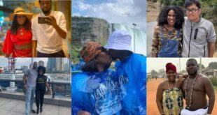 Lady shares pictures of 16 men she slept with whiles traveling the world. 6