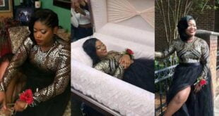 Lady shocks the Internet with her pre-burial photos 106