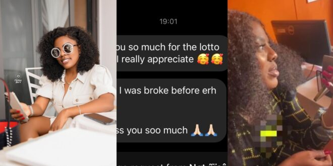 Man wins Ghc80,000 with the lotto numbers that Nana Aba Anamoah gave out on Twitter. 1