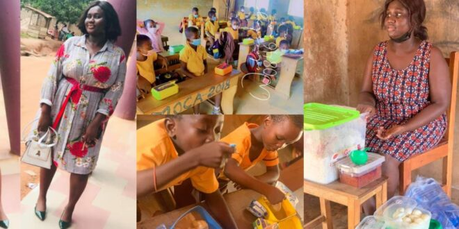 Meet Serwaah, the teacher who gives her students lunch every day despite her small earnings (photos) 1