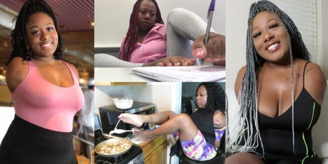 Meet the 24-year-old Lady who was born without arms but manages to complete all of her tasks with her feet [Video] 1