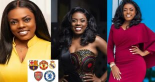 'Men are faithful to football clubs more than their girlfriends because clubs don't ask for momo' - Nana Aba Anamoah 75