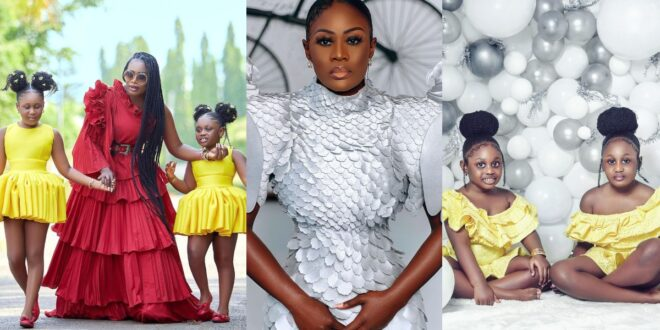 Nana Akua Addo storms the internet with a stunning picture of her two daughters 1