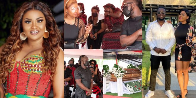 Nana Ama McBrown gives words of support to Eddie Nartey following his wife's death. 1