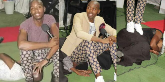 Pastor who sits and farts in the faces of his church members says the Holy Spirit directed him (photos) 1