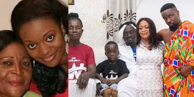 Pictures of Sarkodie, Jackie Appiah, and Lil Win with their mothers 1