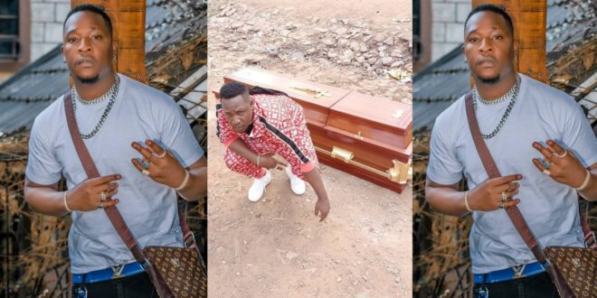 Popular Rapper buys his own coffin to be buried in when he is no more (photo) 1