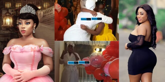 See how Moesha Boduong's friends surprised her on her birthday at her mansion (Video) 1