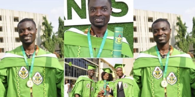 Shoeshine boy goes viral after completing KNUST with his shoeshine money (photos) 1