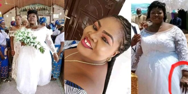 Sick Bride who was discharged from hospital to attend her wedding d!es the next day (photos) 1