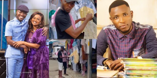 Teacher Kwadwo caught on camera buying second-hand clothes at the market (video) 1