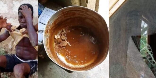 Thief arrested after he decided to eat banku and soup from the house he was robbing. 1