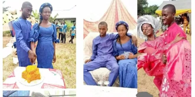 Two teenagers go viral after their Traditional wedding photos surfaced online (photos) 1