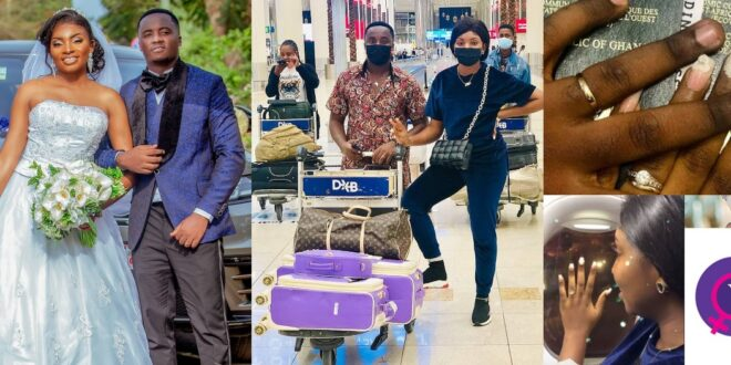 Yolo star Fiifi who recently married flies his wife to Dubai for Honey Moon (video) 1