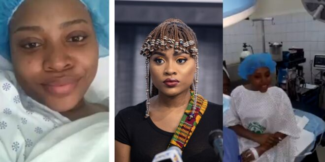Adina Undergoes surgery to remove fibroid from her body. Shares her experience on twitter (video) 1