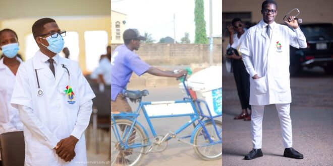 The touching story of a Street Yogurt seller now a student of Pentecost University pursuing a degree in nursing 1