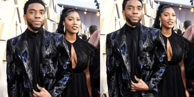 Wife of Late Black Panther actor Chadwick Boseman tears up as she takes his award - Video 1
