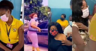 watch how Nana Aba, Sandra Ankobiah, Bola Ray, Yvonne Nelson, Mcbrown, Afia Schwar, and others react when taking C()VID-19 vaccine (videos). 5