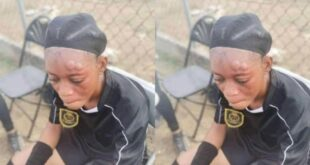 A female referee was physically assaulted by a player during a game in Kumasi 2
