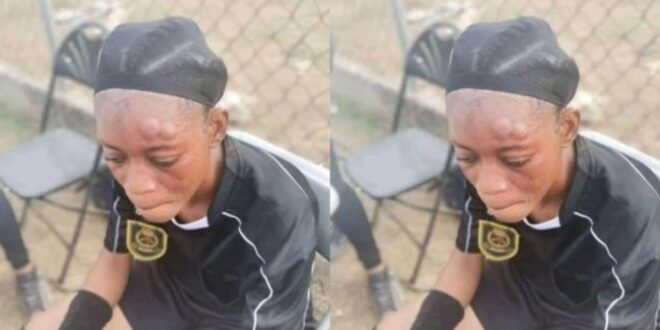 A female referee was physically assaulted by a player during a game in Kumasi 1