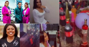 James Ian's girlfriend holds a lavish birthday party to prove to Afia Schwar that she is not poor (video) 5