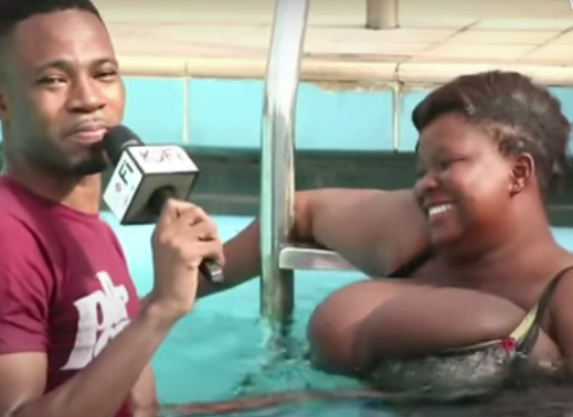 Kofi Adoma Massages the huge Br3ast of Busty on Live TV (video) 3