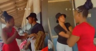 Two lady f!ghts in front of police station after one sold fake hair to the other (video) 4