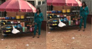 Meet the beautiful lady who rocks corporate outfit to sell foodstuffs by the roadside - Photos 15