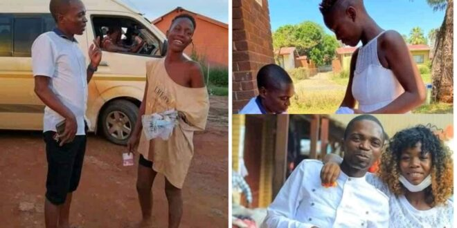 More pictures of the man who found a homeless woman, cleaned her and married her surfaces online 1