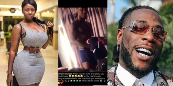 married Princess Shygle release a video to prove she slept with Burna Boy after he won Grammy (video) 1