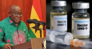 """Ghana will manufacture C()vid 19 vaccines in the country soon""- Nana AKuffo Addo 16"