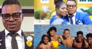 Pictures of Bishop Obinim's wife and children surface online. 7