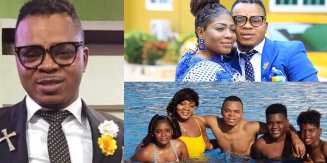 Pictures of Bishop Obinim's wife and children surface online. 1