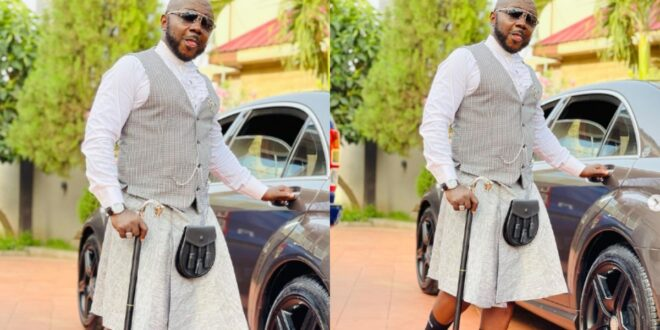 Osebo again!! wears skirts with suits and tells Ghanaians to real (photo) 1
