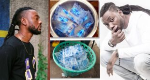 "Pappy Kojo now selling ""Pure water"" after failed music career (video) 12"